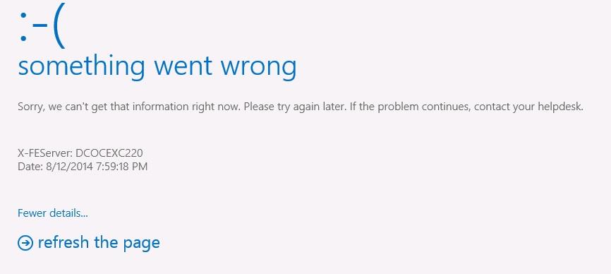 "Exchange 2013 OWA -> 2010 : ""something went wrong"" issue"